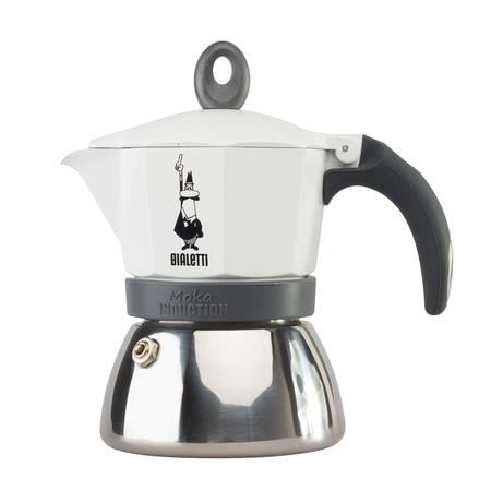 Bialetti Moka Induction kávovar - 6 šálků bílá