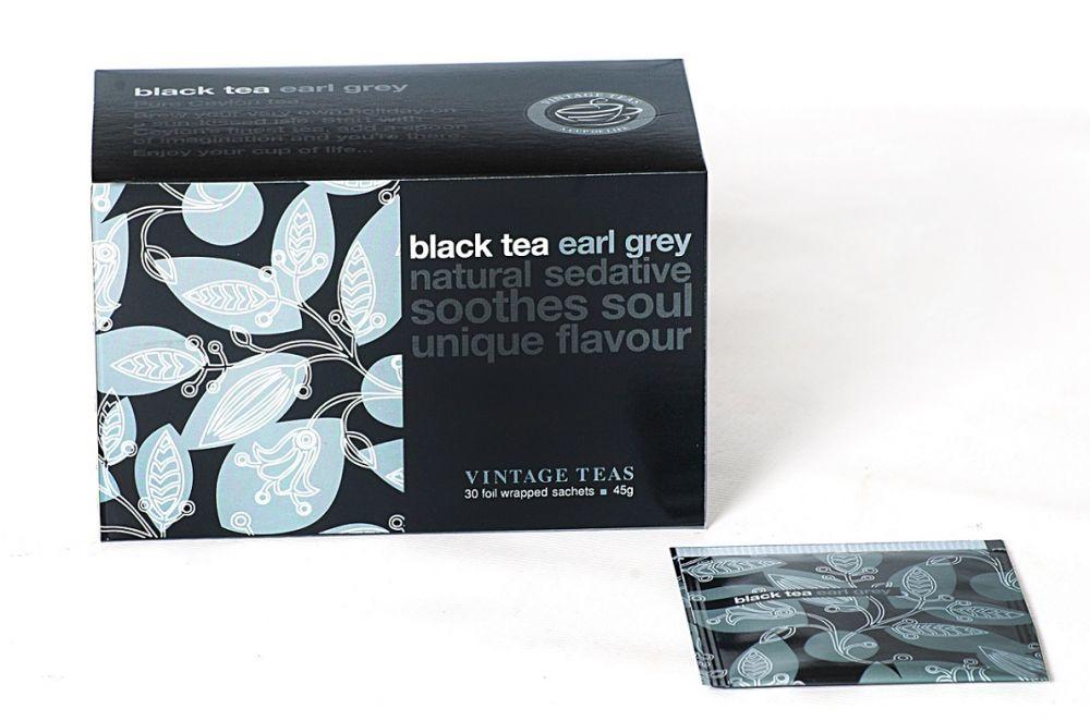 Vintage Teas Černý čaj – Earl Grey 30 x 1,5g sáčky