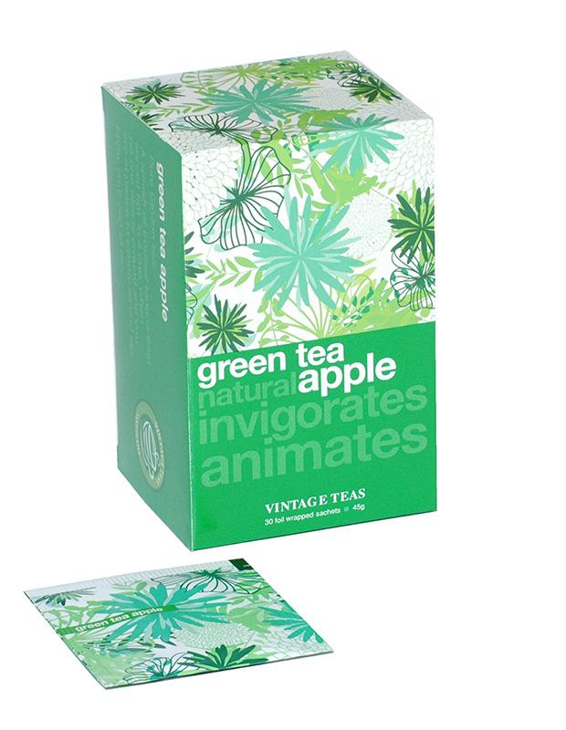 Vintage Teas Zelený čaj – Jablko 30 x 1,5g sáčky