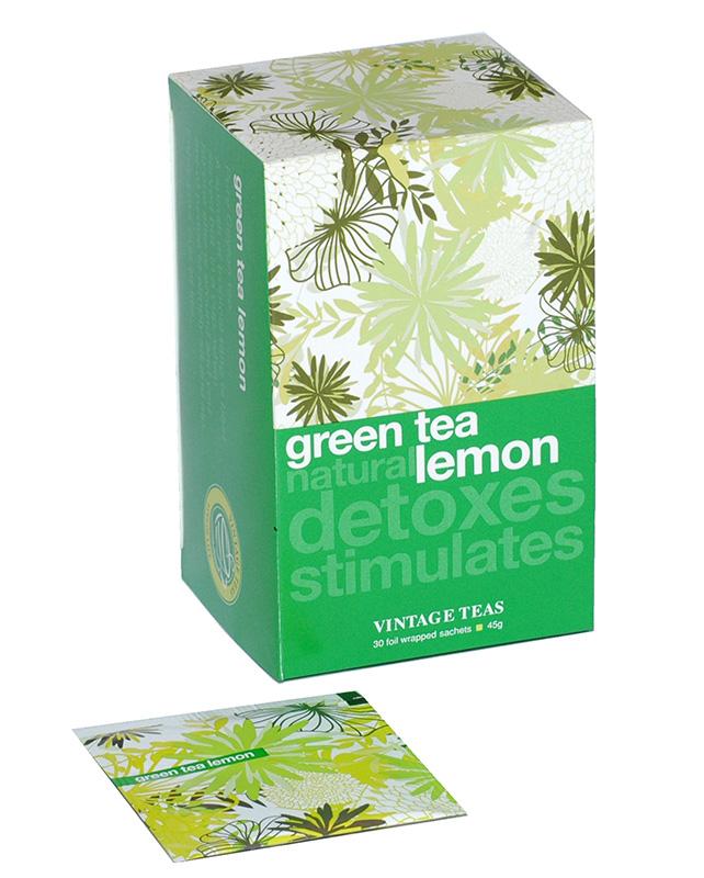 Vintage Teas Zelený čaj – citrón 30 x1,5g sáčky