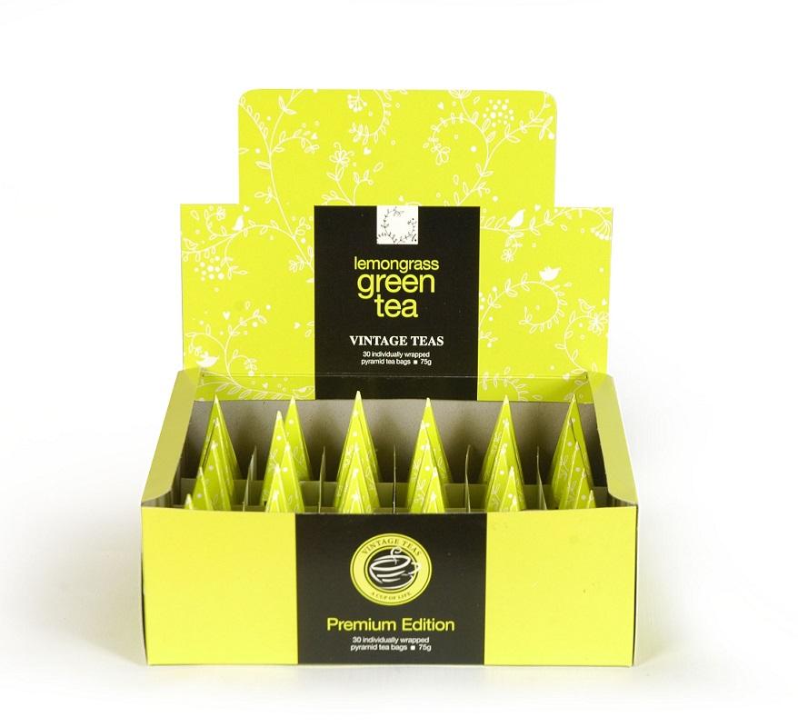 Vintage Teas Zelený čaj s citronelou - BOX pyramidy 30ks