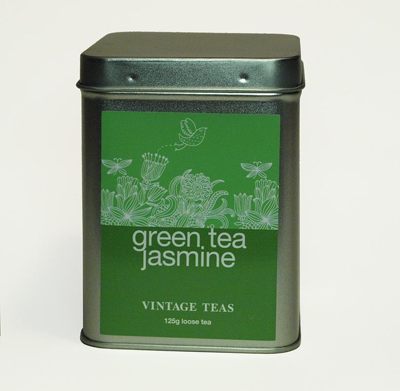 Vintage Teas Zelený čaj s jasmínovými květy GP1- sypaný 125g