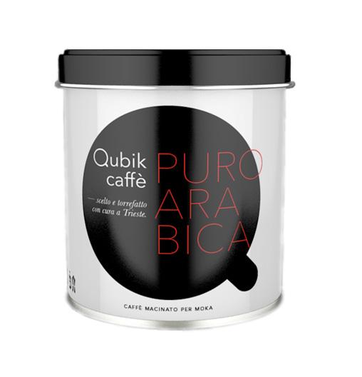 Qubik Caffé 100% Arabica mletá káva - 125 g plechovka