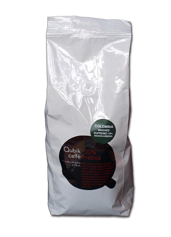 Qubik Caffé Columbia Supremo 18 - zrnková káva 1 kg