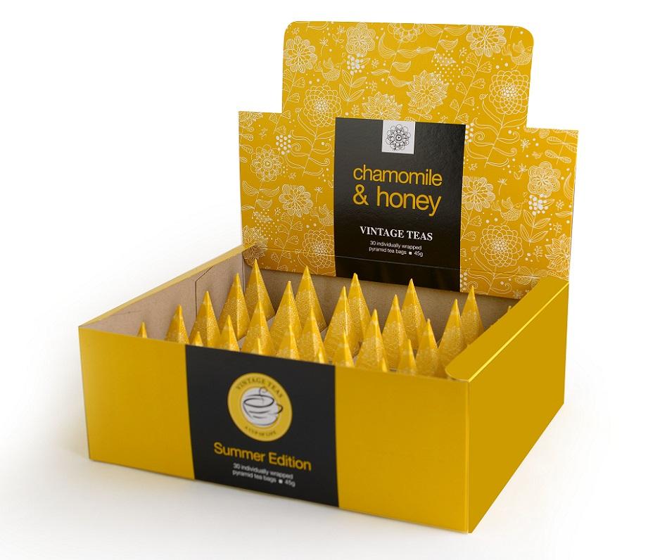 Vintage Teas Heřmánek s medem BOX pyramid 30 x 1,5g