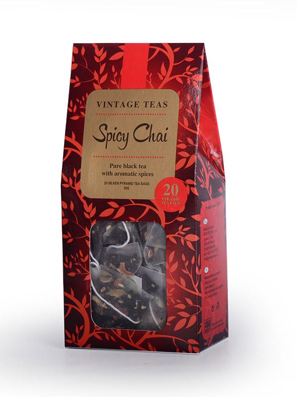 Vintage Teas Spicy Chai pyramid 20ks