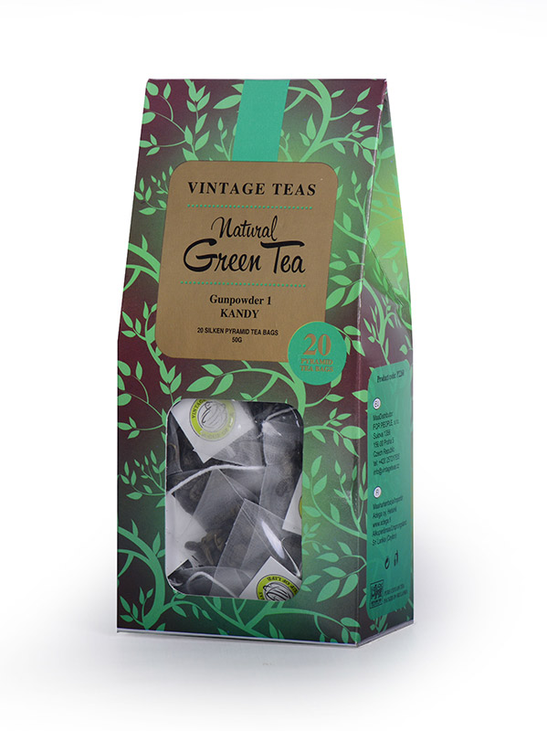 Vintage Teas Zelený čaj Gunpowder - pyramidy 20ks