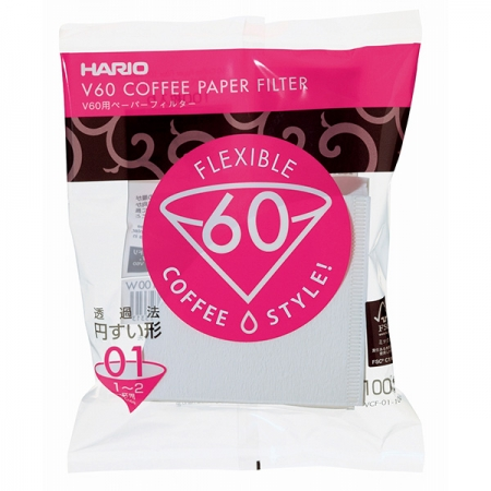 Hario papírové filtry pro Dripper V60-01 (100 ks)