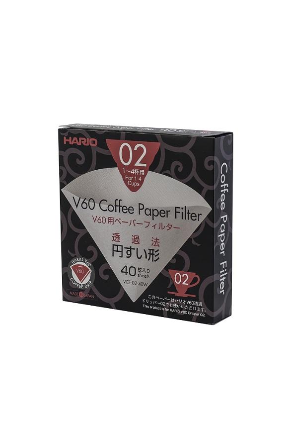 Hario papírové filtry pro Dripper V60-02 (40 ks)