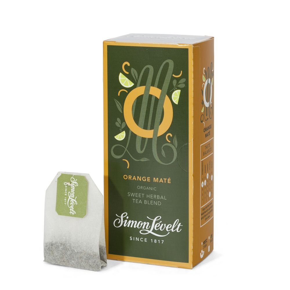 Simon Levelt Orange Maté - aromatizovaný bylinný čaj (20 x 1,75 g)
