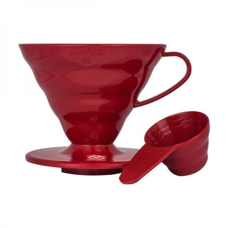 Hario Dripper V60-02 červený plastový