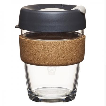 KeepCup Brew Cork Press - skleněný hrnek na kávu 340 ml