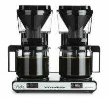 Moccamaster KBG 744 AO černý - dvojitý kávovar na filtrovanou kávu