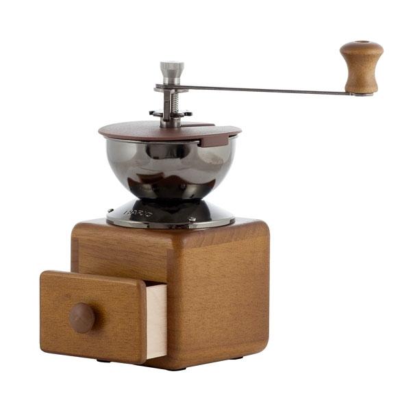 Hario dřevěný ruční mlýnek na kávu